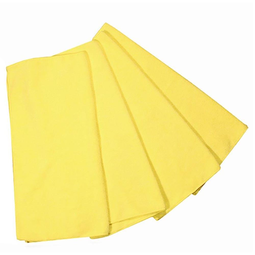 """Clean Up MFMP12YL 12"""" Square Multi-Purpose Towel - Microfiber, Yellow"""