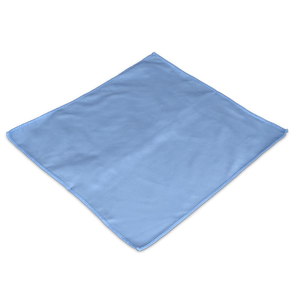 "Clean Up MFMP15GT 15"" Square Glass/Mirror Towel - Microfiber, Blue"