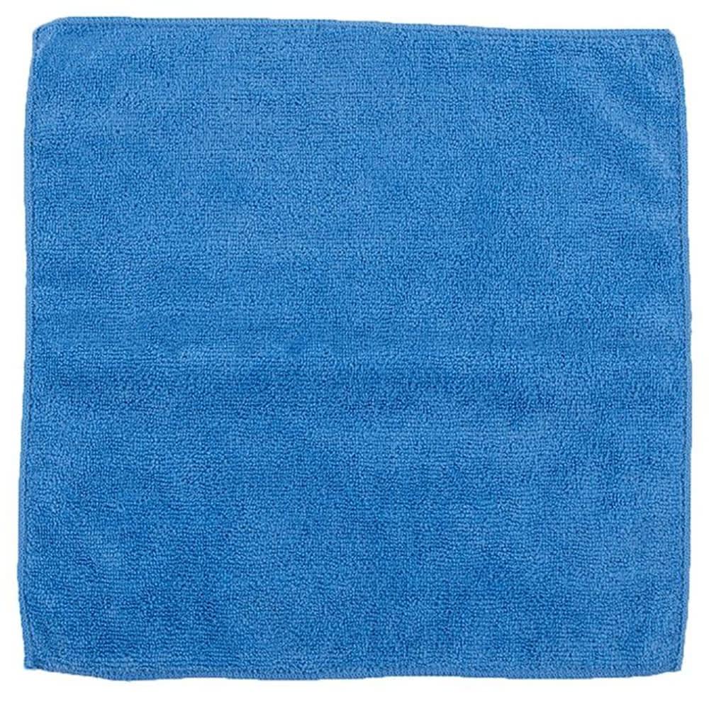 "Clean Up MFMP16BL 16"" Square Multi-Purpose Towel - Microfiber, Blue"