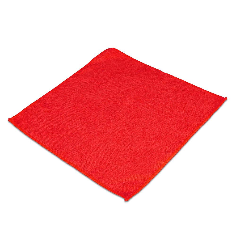 "Clean Up MFMP16RD 16"" Square Multi-Purpose Towel - Microfiber, Red"