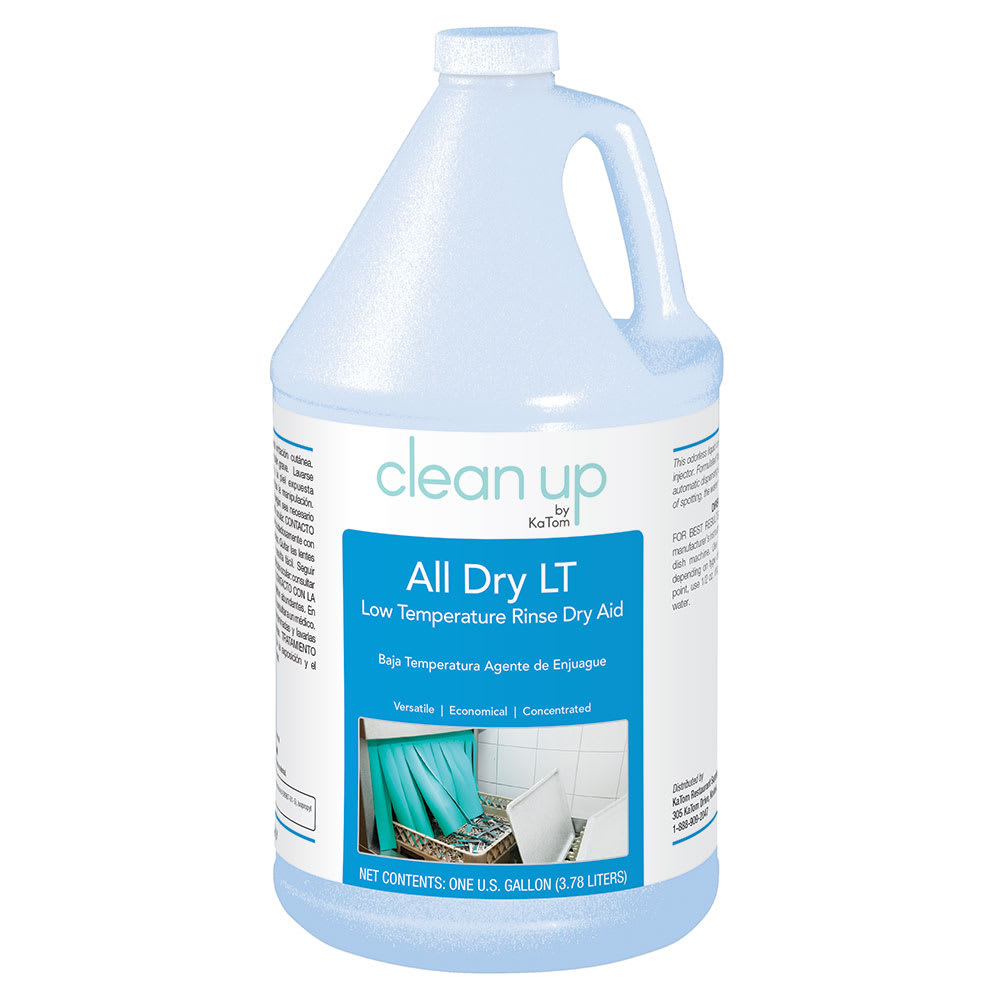 Clean Up ALLDRYLT 1 gal All Dry LT Low-Temp Rinse Aid for Commercial Dishwashers