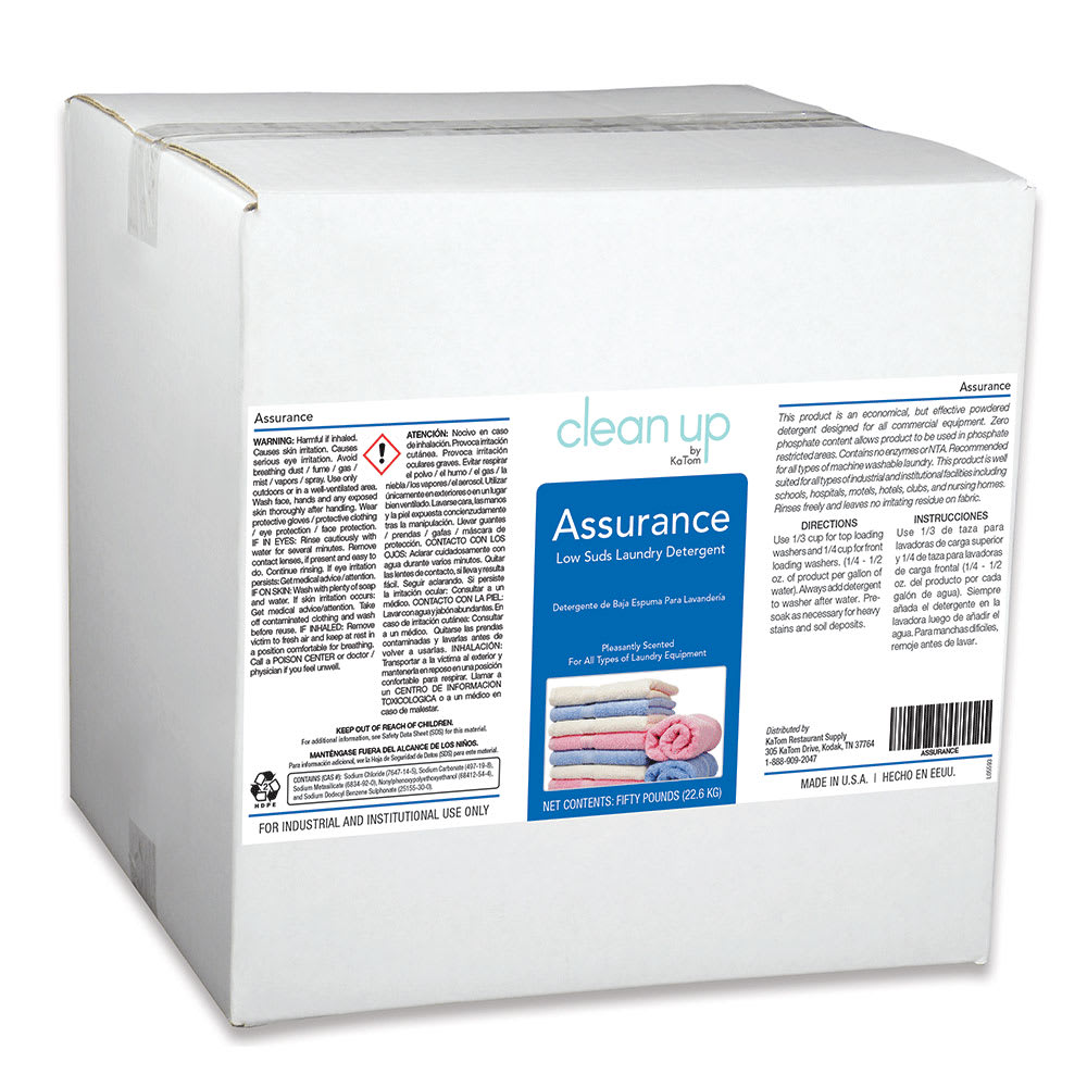 Clean Up ASSURANCE 50 lb Assurance Powdered Laundry Detergent, Citrus Scent