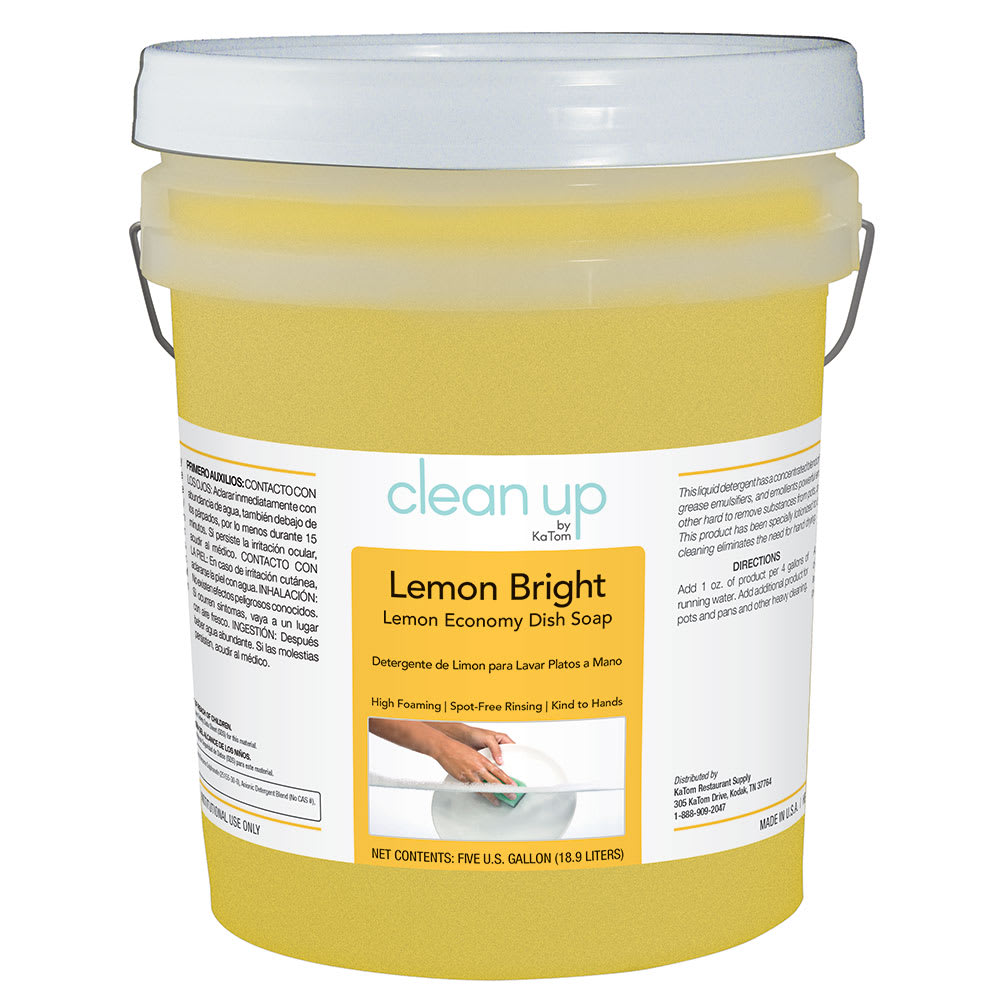 Clean Up LEMON5 5 gal Lemon Bright Economy Dish Soap, Lemon Scent