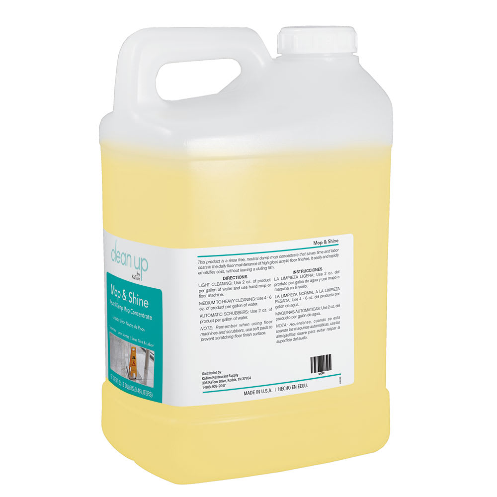 Clean Up MOP 2.5-gal Mop & Shine Neutral Damp Mop Concentrate, Lemon Scent