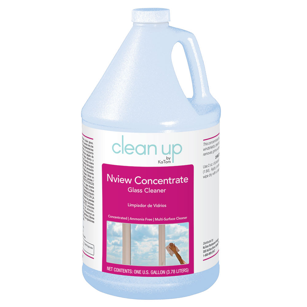 Clean Up by KaTom NVIEWCON 1-gal Nview Concentrate Glass Cleaner, Fragrance-Free