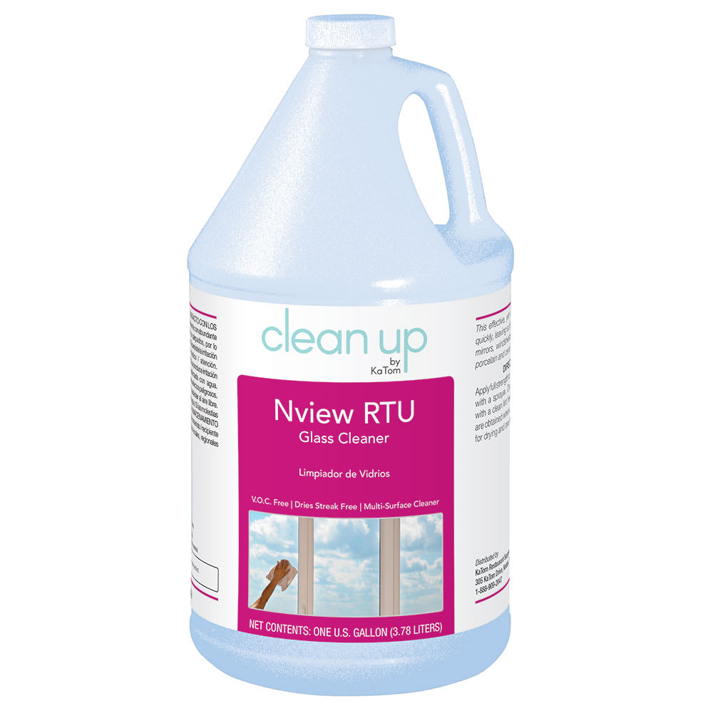 Clean Up by KaTom NVIEWRTU 1-gal Nview RTU Glass Cleaner, Fragrance-Free