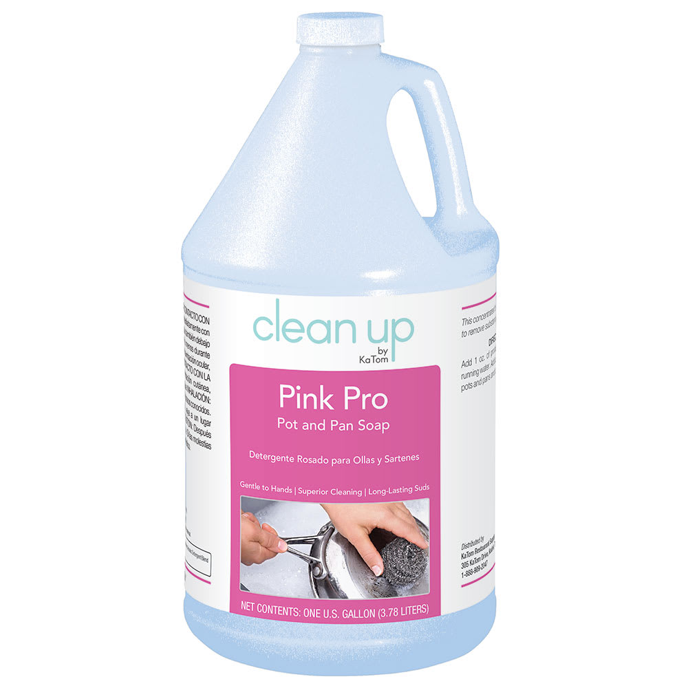 Clean Up PINK4 1 gal Pink Pro Pot and Pan Soap, Herbal Scent