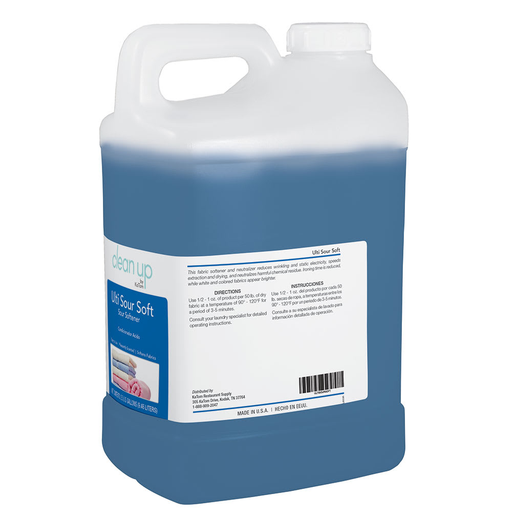 Clean Up ULTISOURSOFT 2.5 gal Ulti Sour Soft Liquid Fabric Softener, Floral Scent