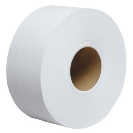 Clean Up by KaTom JRT3.25X5502P 2-ply Jumbo Toilet Paper Roll, 550-ft