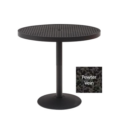 "Wabash Valley HA2G79P PV 48"" Round Portable Pedestal Table w/ Powder Coating, Slat"