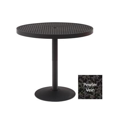 "Wabash Valley HA2I79P PV 36"" Round Portable Pedestal Table w/ Powder Coating, Slat"