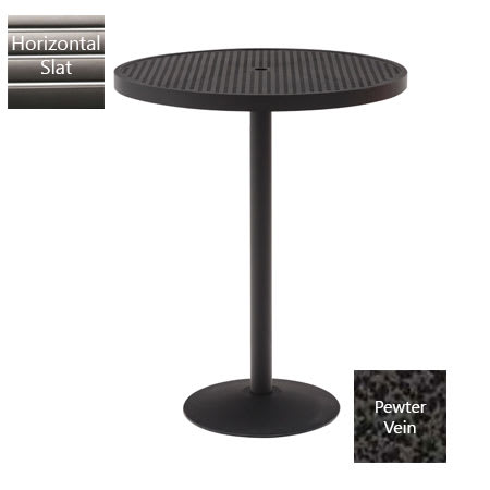 "Wabash Valley HA2J79P PV 30"" Round Pedestal Table w/ Powder Coating, Slat"