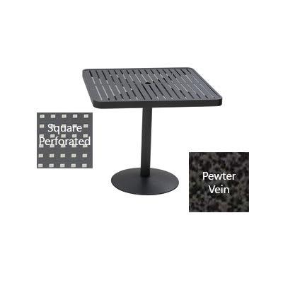 "Wabash Valley HA2V79P PV 36"" Square Portable Pedestal Table w/ Powder Coating, Slat"