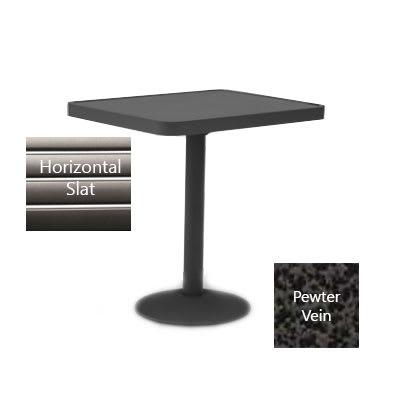 "Wabash Valley HA2Z79P PV Pedestal Table w/ Powder Coating, 30"" x 48"", Slat"