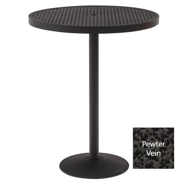 "Wabash Valley HAAI79P PV 36"" Round Portable Bar Height Table w/ Powder Coat, Slat"