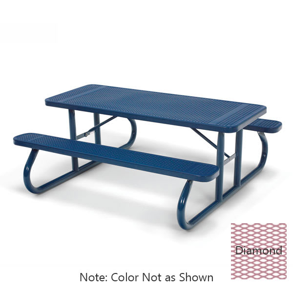 Wabash Valley SG105D BL 6' Portable Picnic Table w/ Powder Coating, Diamond