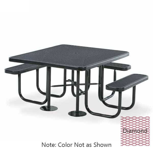 "Wabash Valley SG155D BL Portable Table w/ (3) Seats & Powder Coating, 46"" x 55"", Diamond"