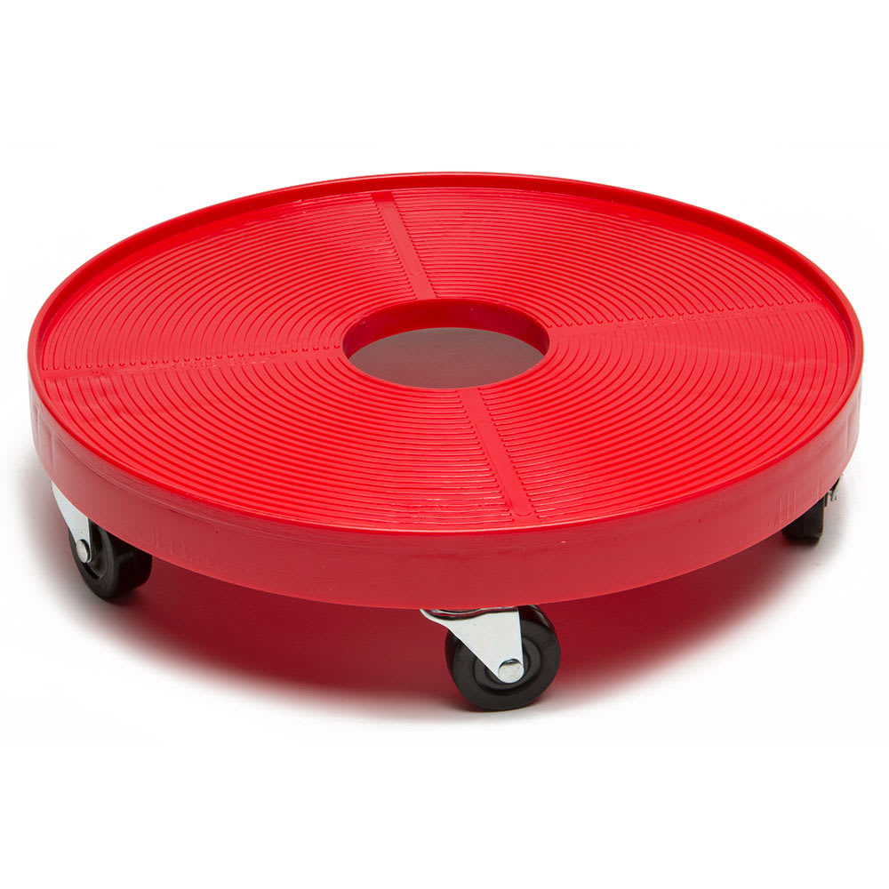 "Devault Enterprises ICD-3000 16"" Round Keg Dolly w/ 500 lb Capacity - Plastic, Red"