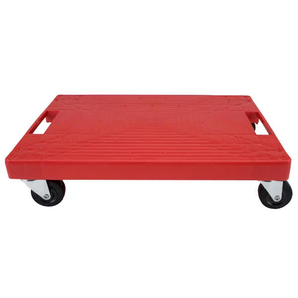 "Devault Enterprises ICD-4000 Beverage Dolly w/ 500-lb Capacity - 15.75"" x 10.75"", Plastic, Red"