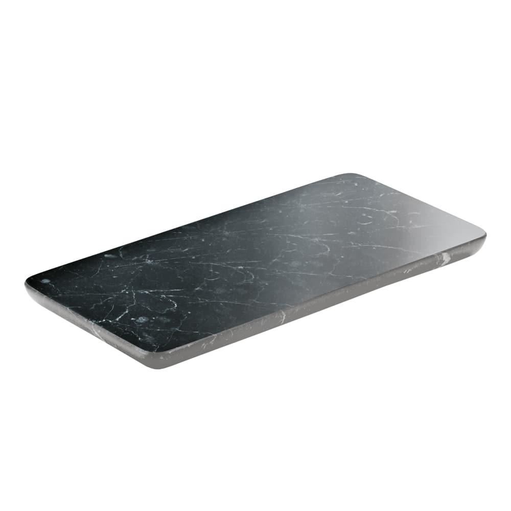 "Schonwald 731880291000000 Rectangular Playground Platter - 7.13"" x 3.5"", Stoneware, Black Marble"
