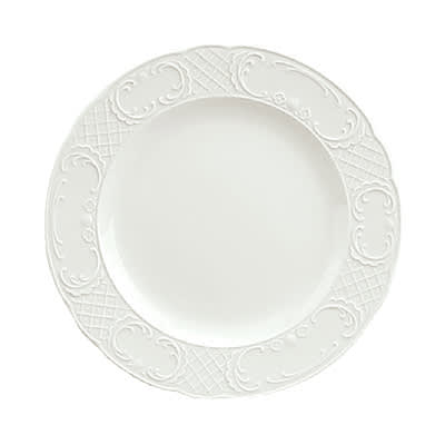 "Schonwald 9060028 11.12"" Round Plate - Porcelain, Marquis, Continental White"