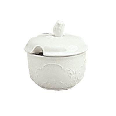 Schonwald 9064919 6.5 oz Round Sugar Bowl w/ Lid, Porcelain, Marquis, Continental White