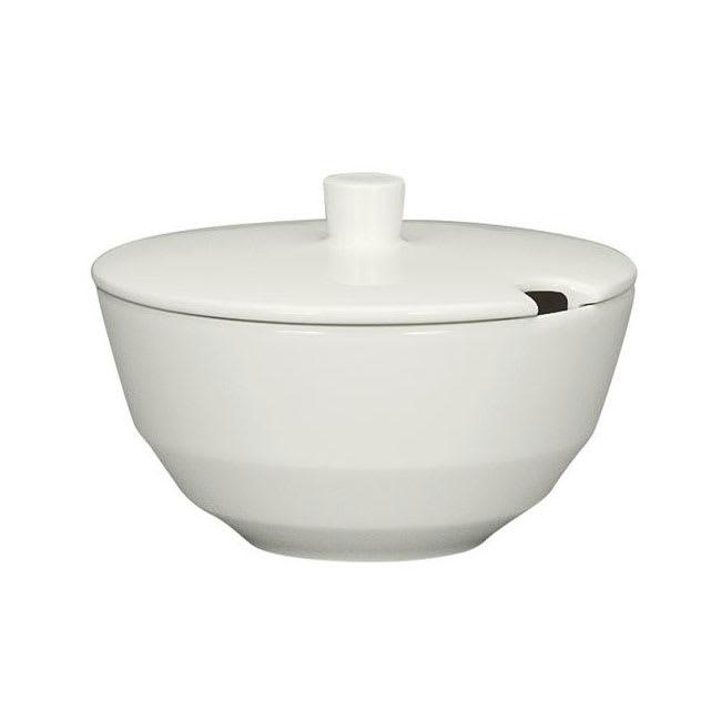 Schonwald 9124922 7.75 oz Allure Sugar Bowl - Porcelain, Bone White