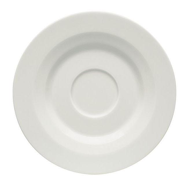 "Schonwald 9126908 5.25"" Allure Espresso Saucer - Porcelain, Bone White"