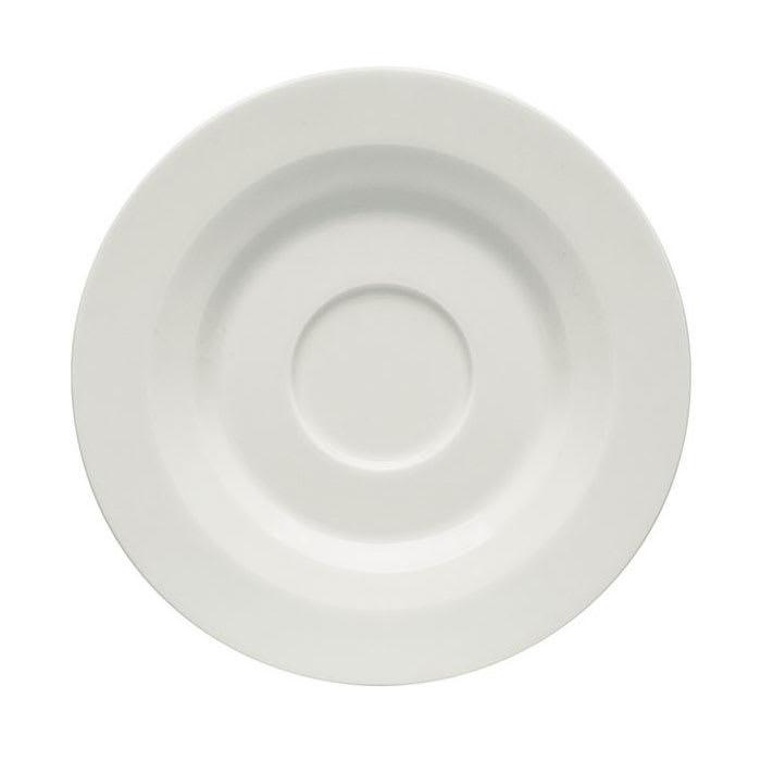 "Schonwald 9126919 6.5"" Allure Espresso Saucer - Porcelain, Bone White"