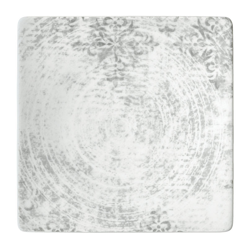 """Schonwald 9131524-63071 9.5"""" Square Shabby Chic Plate - Coupe, Porcelain, Structure Gray"""