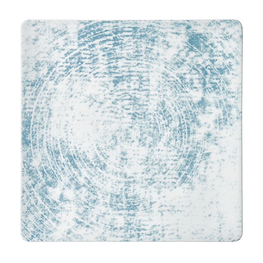 "Schonwald 9131527-63072 10.63"" Square Shabby Chic Plate - Coupe, Porcelain, Structure Blue"