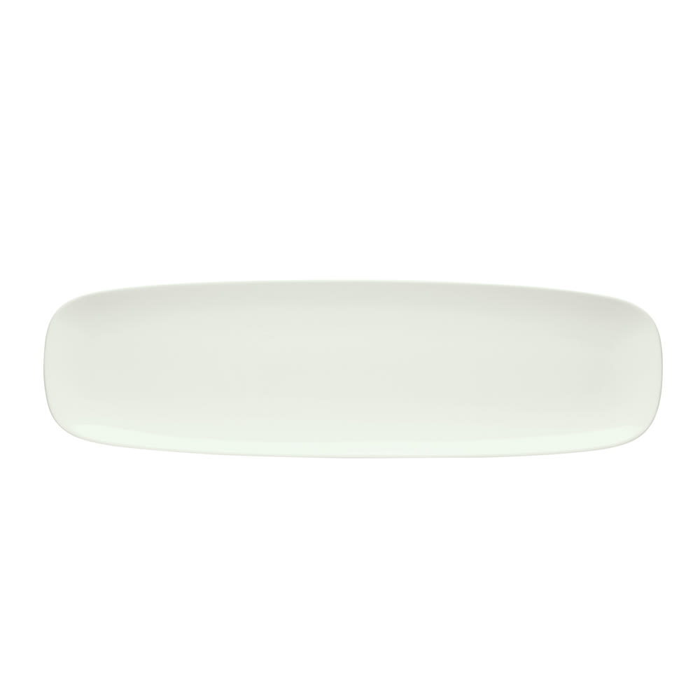 "Schonwald 9212250 Rectangular Islands Platter - 19.75"" x 5.63"", Porcelain, Bone White"