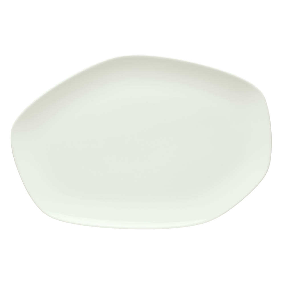 "Schonwald 9212633 Organic-Shaped Islands Platter - 13.13"" x 9"", Porcelain, Bone White"