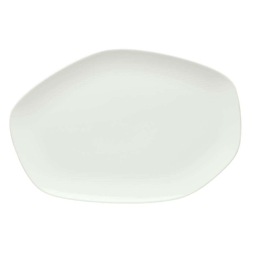 "Schonwald 9212640 Organic-Shaped Islands Platter - 15.75"" x 10.5"", Porcelain, Bone White"