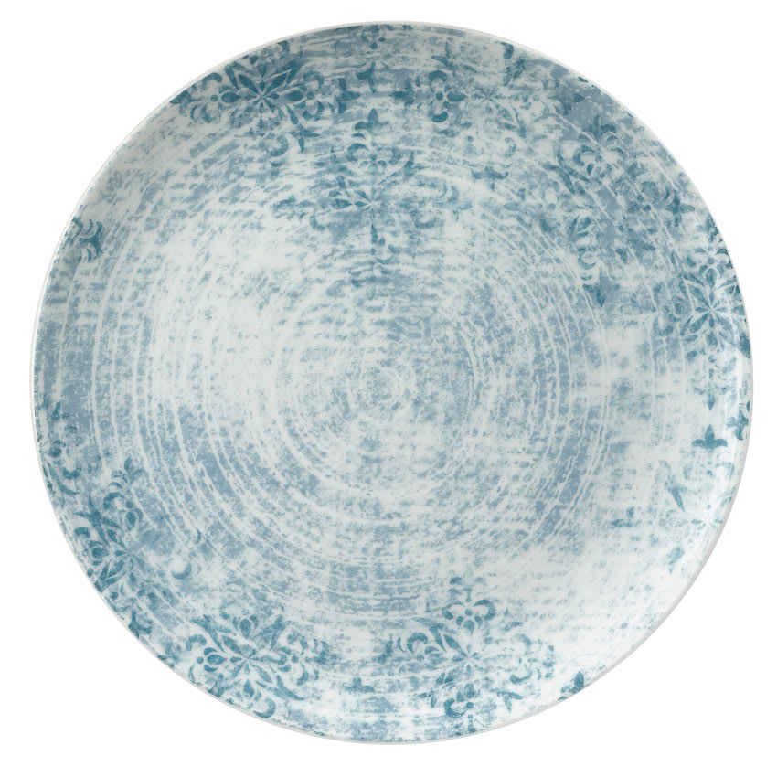 """Schonwald 9331227-63073 10.25"""" Shabby Chic Plate - Coupe, Porcelain, Structure Blue"""