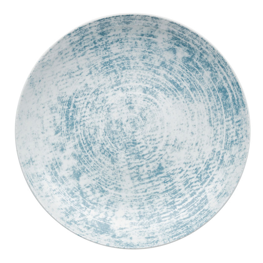 "Schonwald 9331228-63072 11"" Shabby Chic Plate - Coupe, Porcelain, Structure Blue"