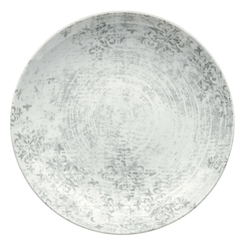 """Schonwald 9331232-63071 12.63"""" Shabby Chic Plate - Coupe, Porcelain, Structure Gray"""