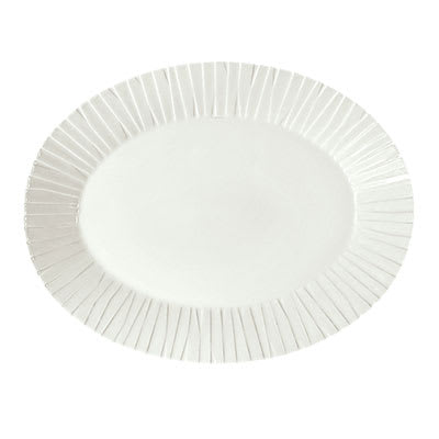 "Schonwald 9362084 Oval Character Platter - 13.5"" x 10.5"", Porcelain, Continental White"