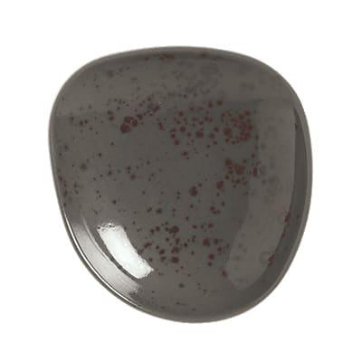 "Schonwald 9381215-63044 6.12"" Round Organic Plate - Porcelain, Pottery Unique, Dark Gray"