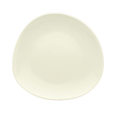"Schonwald 9381226-63026 10.5"" Round Organic Plate - Porcelain, Wellcome, Duracream White"
