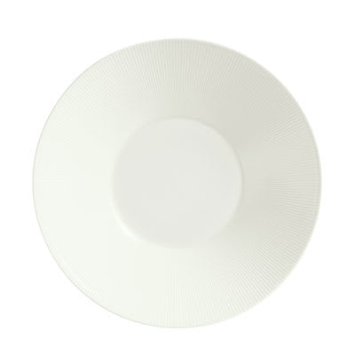 "Schonwald 9400032-62987 12.75"" Porcelain Plate - Connect Radial Pattern, White"