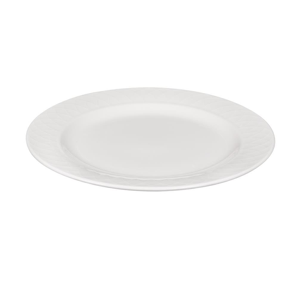 "Churchill APREEP101 10"" Round Alchemy® Jardin Plate - Ceramic, White"