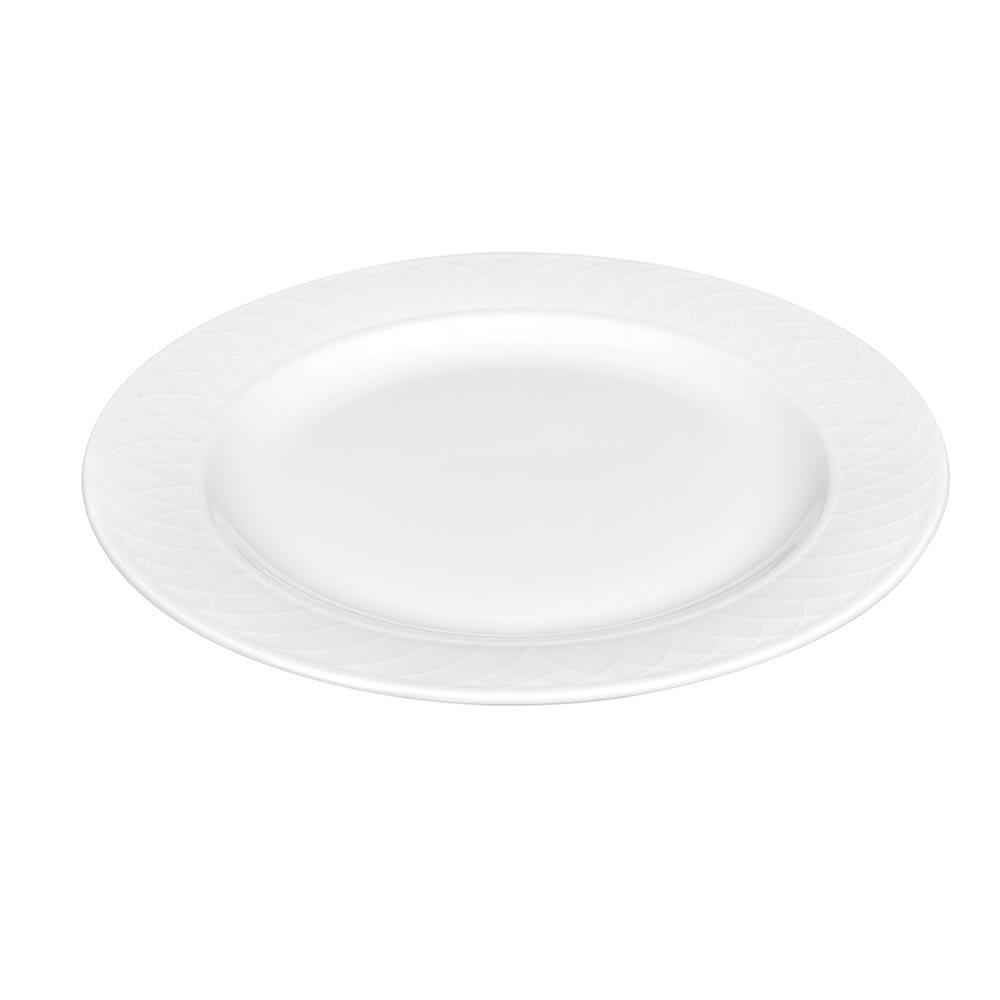 "Churchill APREEP111 11.75"" Round Alchemy® Jardin Plate - Ceramic, White"