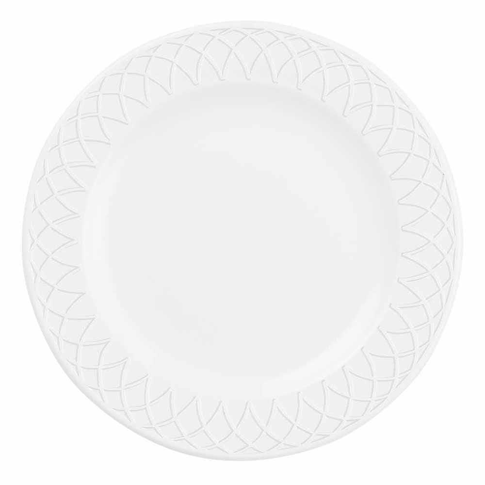 "Churchill APREEP651 6.5"" Round Alchemy® Jardin Plate - Ceramic, White"