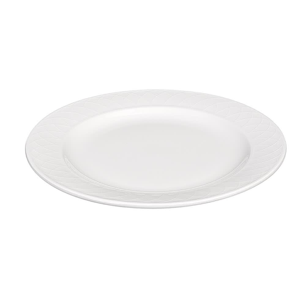 "Churchill APREEP91 9"" Round Alchemy® Jardin Plate - Ceramic, White"