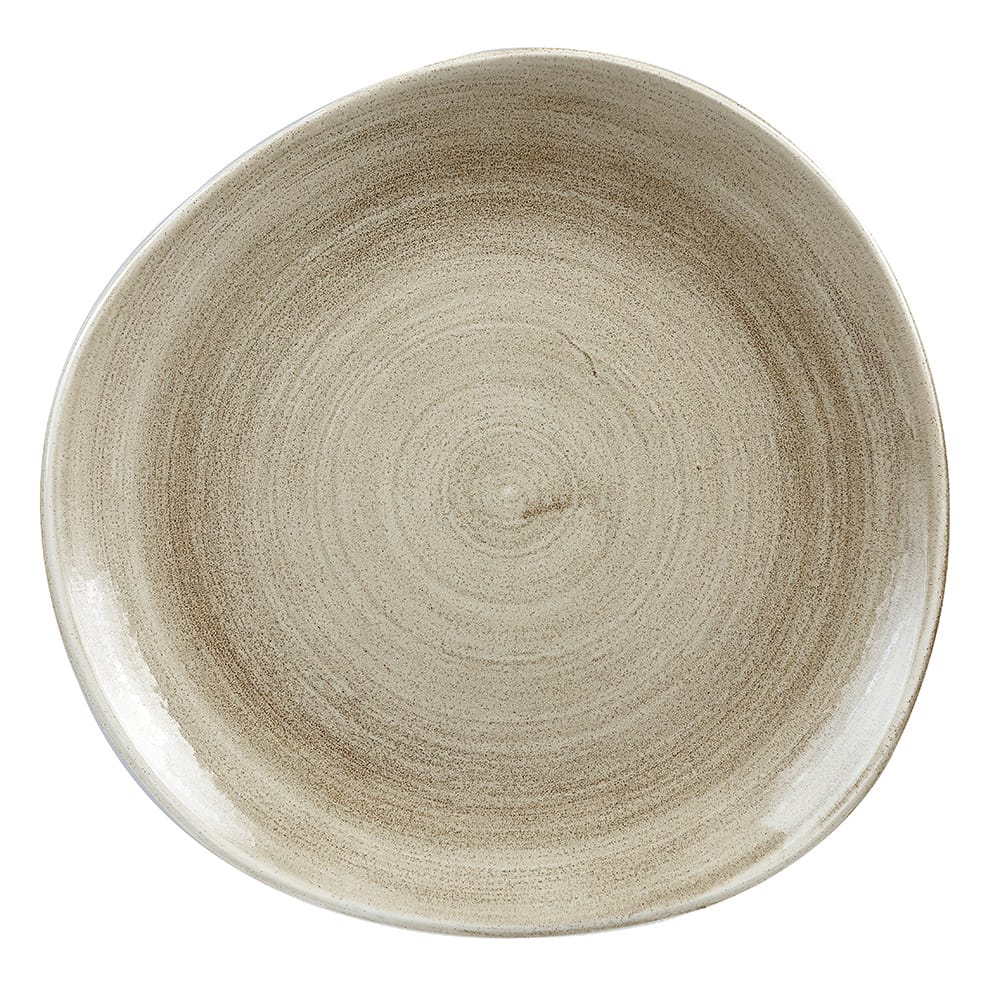 "Churchill PAATOG81 8.25"" Round Patina Plate - Ceramic, Antique Taupe"