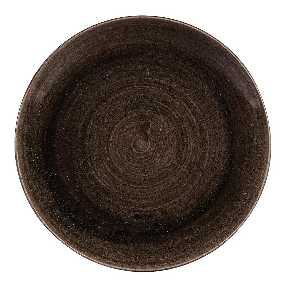 "Churchill PAIBEV101 10.25"" Round Patina Plate - Ceramic, Iron Black"