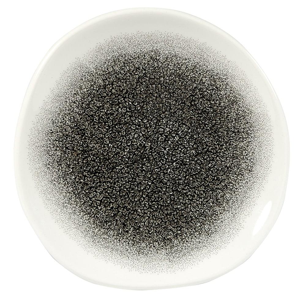 "Churchill RKBQOG71 7.25"" Round Raku Plate - Ceramic, Quartz Black"