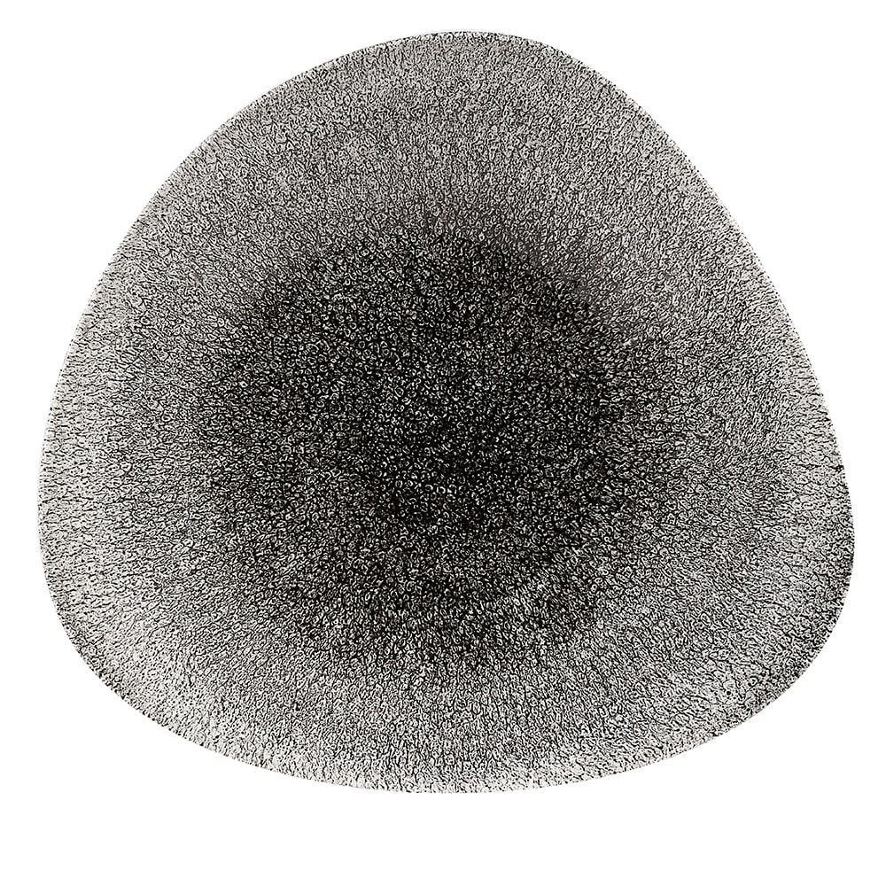 "Churchill RKBQTB231 Triangular Raku Bowl - 9.4"" x 6.25"", Ceramic, Quartz Black"
