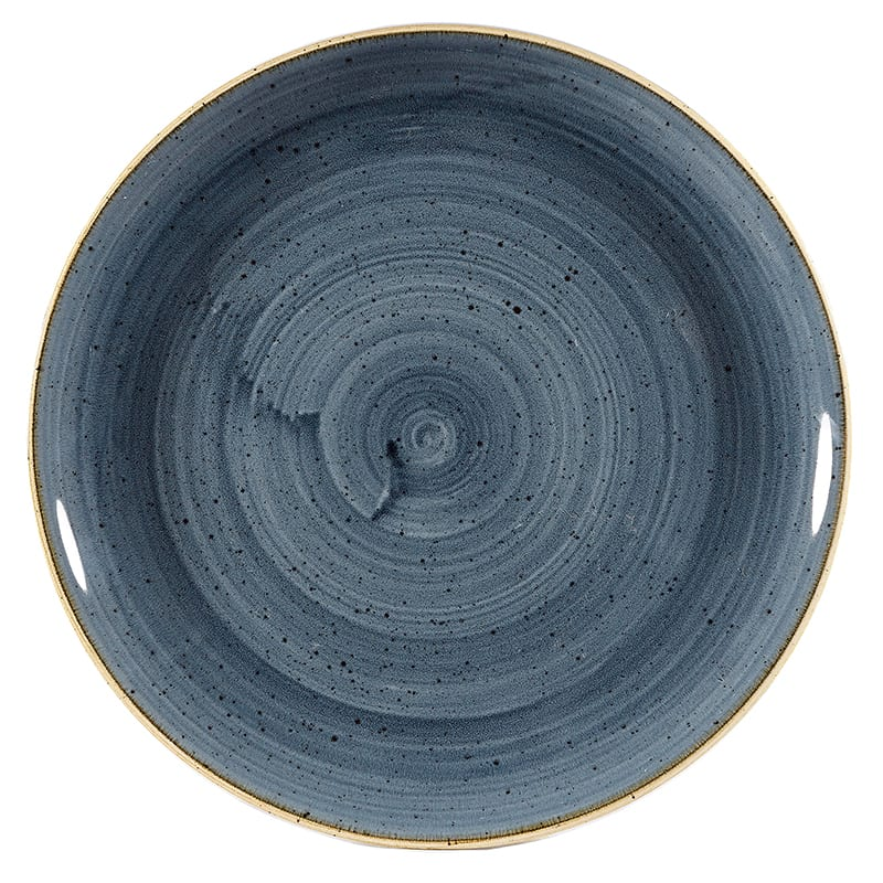 "Churchill SBBSEVP61 6.5"" Round Stonecast® Evolve Plate - Ceramic, Blueberry"